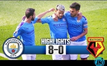 Manchester City vs Watford 8-0 - All Highlights & Goals